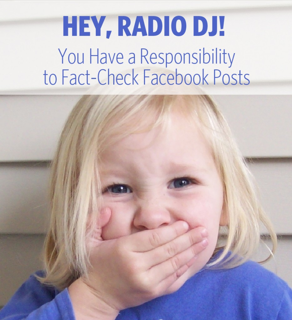 radio DJ fact check facebook posts