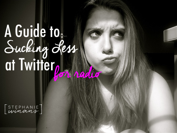 A Guide To Sucking Less at Twitter